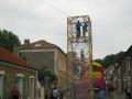 Cage à grimper avec tyrolienne en extérieur
