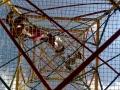 Cage à grimper vue de dessous