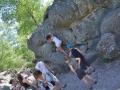Cours collectif d'escalde à Fontainebleau