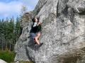 Escalade avec crash-pad à Fontainebleau