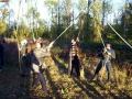Pont de poutres: Participants au sol