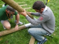 Construction des tripodes pour la tyrolienne