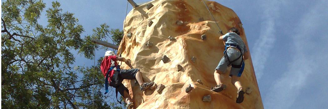 Mur d'escalade (Rocher 8m)