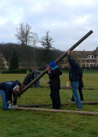 Tyrolienne en autoconstruction sur tripodes